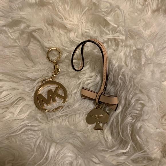 Michael Kors and Kate Spade Bag charm key chain